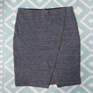 Loft sz L Grey Pencil Stretch Skirt